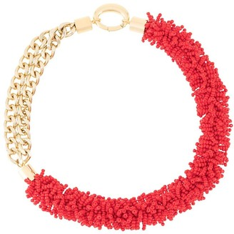 Litkovskaya Zgarda dual-textured necklace