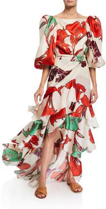Johanna Ortiz Forbidden Tropics Wrap Skirt