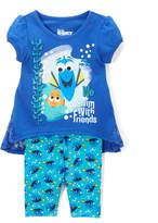 Children's Apparel Network Finding Dory Blue Tee & Leggings - Girls