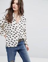Vila Blur Print Shirt
