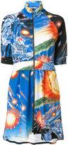Moschino Transformer pattern skater dress - women - Cotton - 42