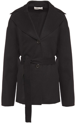Mansur Gavriel Belted Wool And Cashmere-blend Felt Coat