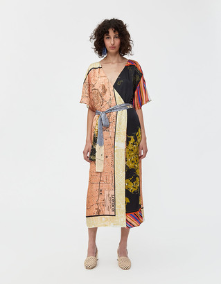 Stine Goya Mia Wrap Dress in Maps