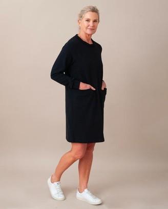 Beaumont Organic Alexis Organic Cotton Dress In Black - Black / Medium