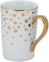 Ten Strawberry Street Set Of 6 Madi Heart Dot Metallic Gold Mugs