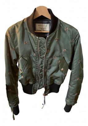 MAISON KITSUNÉ Khaki Polyester Leather jackets