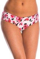Kate Spade Bay of Roses Smocked Hipster Bikini Bottom 8145096