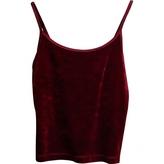 BCBGMAXAZRIA Red Polyester Top