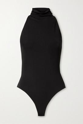 Cushnie Open-back Stretch-crepe Thong Bodysuit - Black