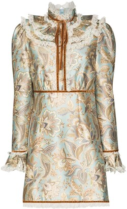Zimmermann Floral-Print Ruffle-Trim Dress