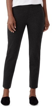 Eileen Fisher Slim-Fit Pull-On Ankle Pants