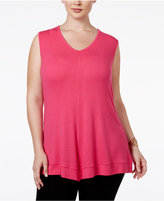 INC International Concepts Plus Size Fit & Flare Swing Top, Only at Macy's