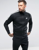 Nike Tribute Track Jacket In Black 678626-010