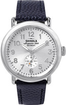 Shinola The Runwell 41mm Stainless Steel And Pebble-grain Leather Watch