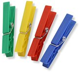Honey-Can-Do DRY-01411 Plastic Clothespins, 100-Pack