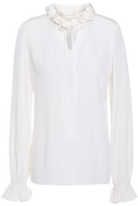 Goat Irving Ruffled Silk Crepe De Chine Blouse
