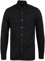 Nudie Jeans Warren Black Recycled Wool Shirt