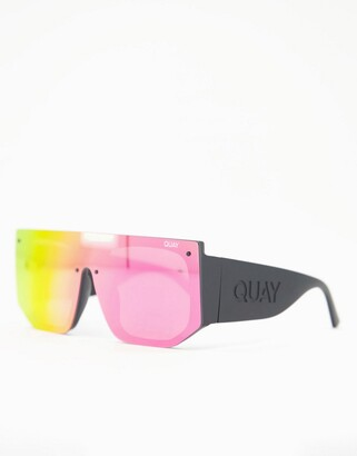 Quay Fully Booked womens visor sunglasses in pink