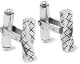 Bottega Veneta - Intrecciato Sterling Silver Cufflinks