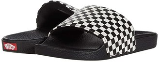 Vans Kids Slide-On (Big Kid) ((Checkerboard) White) Kid's Shoes
