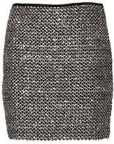 Ichi Livaz Metallic Novelty Sequin Skirt