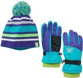 ZeroXposur Girls 4-16 Jena Ski Glove & Hat Set