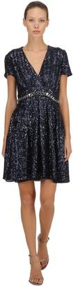 Ingie Paris Sequins Dress W/ Chain Trim