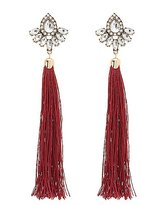 Charlotte Russe Embellished Tassel Earrings