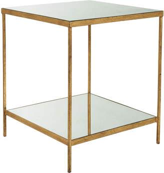 OKA Merle Side Table - Antiqued Glass