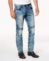 Buffalo David Bitton Men's ASH-X Moto Slim Fit Ripped Stretch Jeans