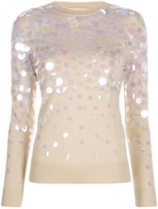 Paco Rabanne Oversized Sequin Embellished Jumper