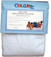 Colgate Mattress Colgate Wee-A-Way Waterproof Fitted Crib Mattress Cover