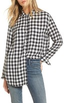 Treasure & Bond Women's Drapey Plaid Shirt