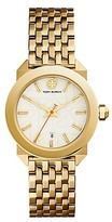 Tory Burch Whitney Watch, Gold-Tone Stainless Steel/Ivory, 35 Mm