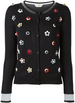 Fendi studded floral cardigan - women - Silk/Cashmere/Polyester/Plastic - 40