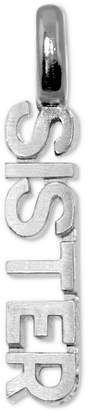 Alex Woo Sister Mini Charm Pendant in Sterling Silver