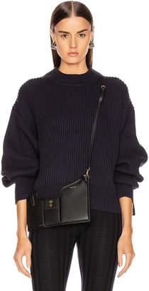 Helmut Lang Crew Neck Sweater in Ink | FWRD