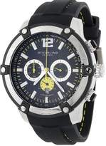 "Stuhrling Original Men's 268.332D61 ""Champion Victory"" Stainless Steel Watch with Black Silicon Strap"
