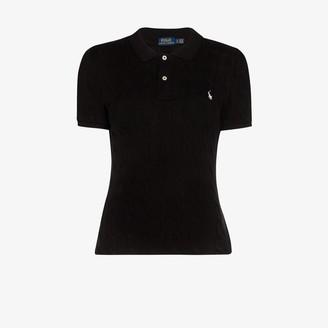 Polo Ralph Lauren Cable Knit Cotton Polo Shirt