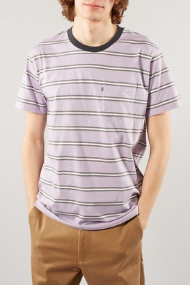 Mads Norgaard Troll Wisteria Pink White Striped Tee - SMALL