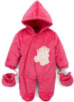 Sweet & Soft Hot Pink Teddy Snowsuit - Infant