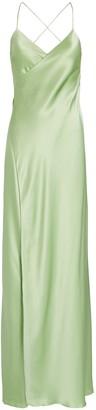 Mason by Michelle Mason Silk Wrap Maxi Dress