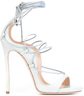 DSQUARED2 Riri lace-up sandals - women - Goat Skin/Leather/Watersnake Skin - 38