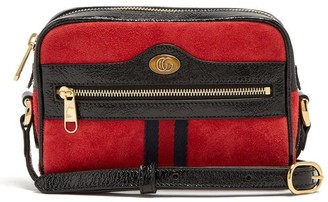 Gucci Ophidia Mini Suede Cross-body Bag - Womens - Red