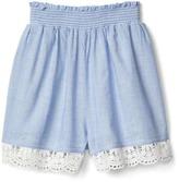 Gap Crochet-trim pull-on shorts