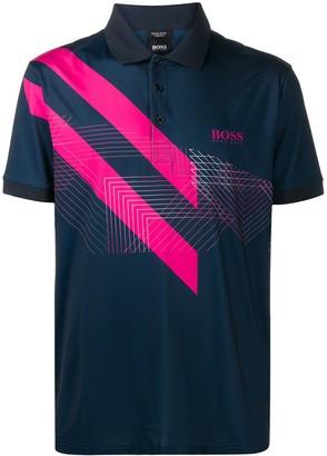 HUGO BOSS Block Stripe Polo Shirt