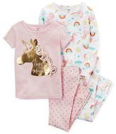 Carter's 4-Piece Unicorn and Rainbow Pajama Set