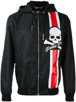 Philipp Plein hooded jacket - men - Polyamide/Cotton/Spandex/Elastane/Polyester - M