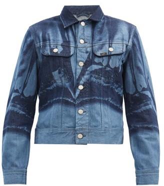 Stefan Cooke - X Lee Printed Denim Jacket - Blue