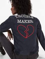 Lucky Brand Boyfriend Denim Jacket With Embroidery